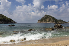 Beach near Paleokastritsa on Corfu island, Greece Stock Images