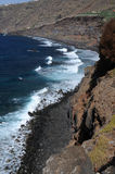 Beach near Playa Bollulo. View on neighbouring beach of playa bollullo on teneriffa stock photo