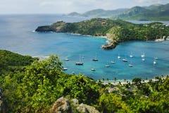Beautiful Antigua in the Caribbean. Beach near St. John`s in Antigua in the Caribbean Sea Stock Photography