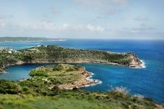 Beautiful Antigua in the Caribbean. Beach near St. John`s in Antigua in the Caribbean Sea Royalty Free Stock Photos