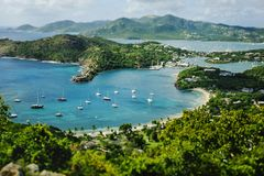 Beautiful Antigua in the Caribbean. Beach near St. John`s in Antigua in the Caribbean Sea Royalty Free Stock Photography
