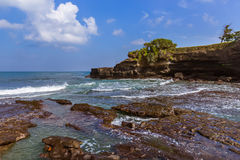 Beach near Tanah Lot Temple - Bali Indonesia Royalty Free Stock Images