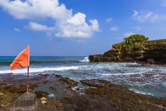 Beach near Tanah Lot Temple - Bali Indonesia. Beach near Tanah Lot Temple in Bali Indonesia - travel background Royalty Free Stock Images