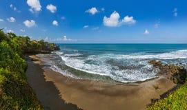Beach near Tanah Lot Temple - Bali Indonesia Stock Photo