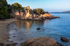 Beach near Tanca Manna Cannigione Sardinia Stock Image
