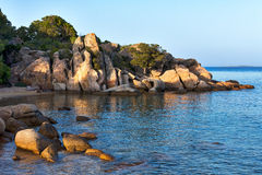 Beach near Tanca Manna Cannigione Sardinia Royalty Free Stock Images