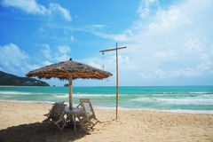 The beach nearby Phuket Airport Royalty Free Stock Photography