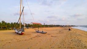 Beach at Negombo, Sri Lanka Royalty Free Stock Images