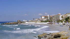 Beach in the Nerja Stock Photography