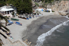Beach in Nerja, Andalusia Spain Royalty Free Stock Photos