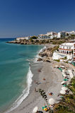Beach At Nerja Southern Spain Stock Photo