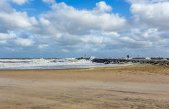 Beach New Jersey Shore at Manasquan Inlet Stock Photos