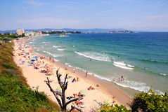 Beach in the new part of Nessebar  Bulgaria, Black sea coast Stock Images