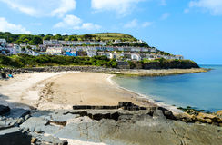 Beach of New Quay – Wales, United Kingdom. Beach of New Quay in Wales Royalty Free Stock Photos