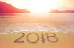 2018 beach stock image