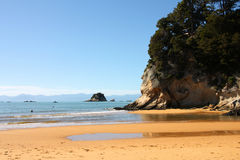 Beach in New Zealand Stock Photo
