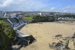Beach at Newquay, Cornwall, England Stock Photos