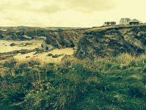 Beach in Newquay Cornwall Royalty Free Stock Photo