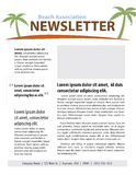Beach newsletter Stock Photo