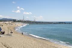 Beach in Sant Adria del Besos. Stock Image