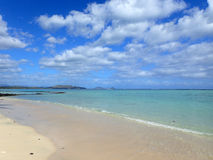 Beach next to Pahonu Pond (Ancient Hawaiian Fishpond) with Shall Royalty Free Stock Images