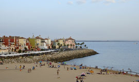 Beach next to Sherry Port Stock Photography
