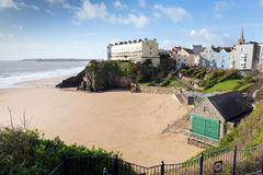 Beach next to St Catherines Island Tenby Wales UK Royalty Free Stock Photo