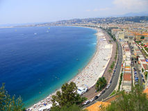 The beach at Nice. Royalty Free Stock Images