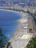 THE BEACH IN NICE Stock Image