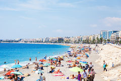 Beach in Nice Royalty Free Stock Photo
