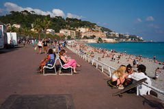 Beach of Nice Royalty Free Stock Photo