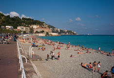 Beach of Nice Stock Photography