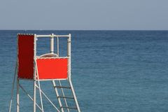 The beach at Nice France, Cote Azur Stock Images