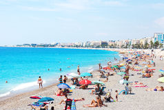 Beach in Nice Royalty Free Stock Images