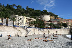 Beach in Nice Stock Image