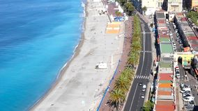 Beach in Nice, French Riviera stock video