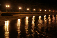 Beach at Night. Manly, Australia Stock Photo