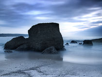 Beach at Night. Picture of a beautiful beach at night in Long exposition mode Stock Photos