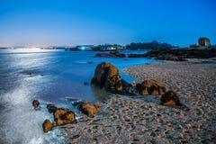 Beach at night stock image