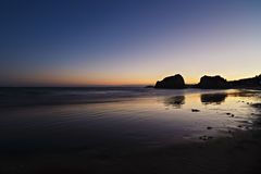beach at night with blue sky Royalty Free Stock Photos
