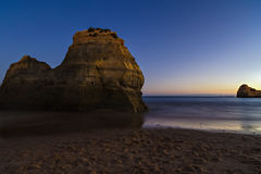 Beach at night with blue sky Stock Photo