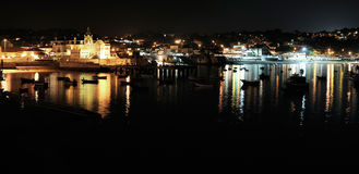 Beach at night, Cascais, Portugal Royalty Free Stock Image