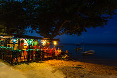 Beach night club in Little Corn Island Stock Photography