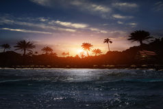 Beach at night Royalty Free Stock Image