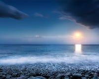 Beach at night Royalty Free Stock Photography