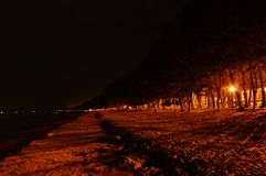 Beach in the night Royalty Free Stock Images