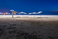 Beach at night royalty free stock photography