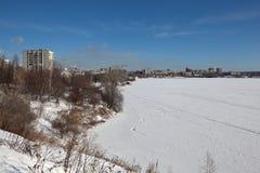 Beach Nizhnetagilskogo pond. Nizhny Tagil. Sverdlovsk region. Stock Images