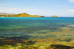 Beach of Nora, Sardinia island Stock Photos