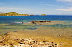 Beach of Nora, Sardinia Royalty Free Stock Photo